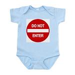 Do Not Enter Sign Infant Bodysuit
