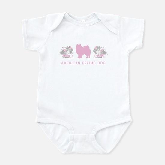 """""""Elegant"""" American Eskimo Dog Infant Bodysuit"""