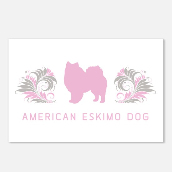 """Elegant"" American Eskimo Dog Postcards (Package o"
