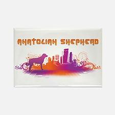 """City"" Anatolian Shepherd Rectangle Magnet"