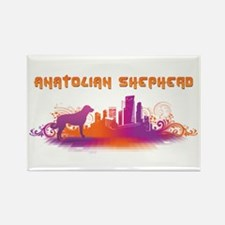 """City"" Anatolian Shepherd Rectangle Magnet (10 pac"