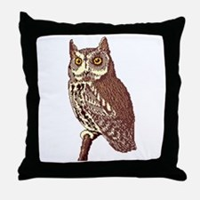 Great Horned Owl 2 Throw Pillow