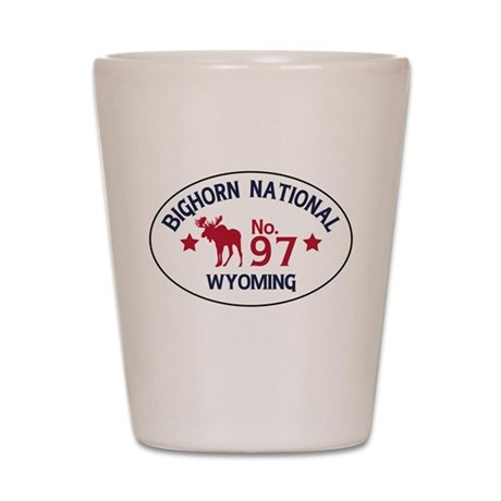 Bighorn Moose Badge Shot Glass