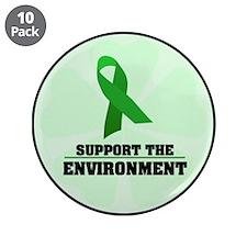 """Environmental Awareness 3.5"""" Button (10 pack)"""