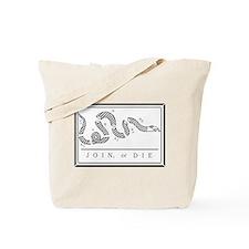 Join or Die Flag Tote Bag