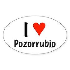 I love Pozorrubio Oval Decal