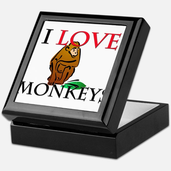 I Love Monkeys Keepsake Box
