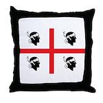 Sardinia Flag Throw Pillow