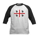 Sardinia Flag Kids Baseball Jersey
