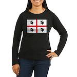 Sardinia Flag Women's Long Sleeve Dark T-Shirt