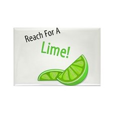 Reach For A Lime Rectangle Magnet