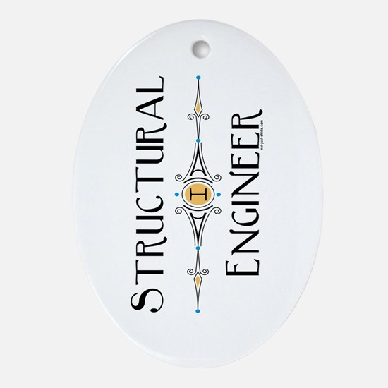 Structural Engineer Oval Ornament
