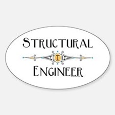 Structural Engineer Oval Decal