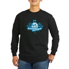 Cornwall Freeriders blue Long Sleeve T-Shirt
