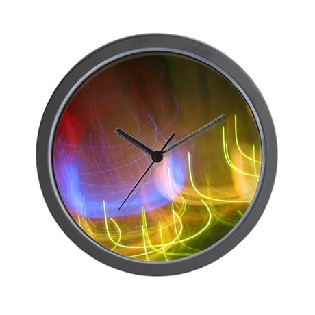 Neon Lights Wall Clock by PlanetSapphire