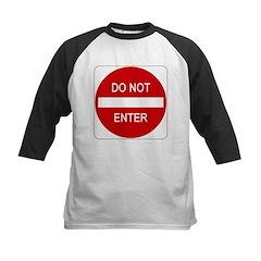 Do Not Enter Sign - Kids Baseball Jersey