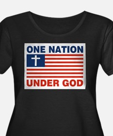 One Nation Under GOD Plus Size T-Shirt