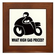 What high gas prices motorbike Framed Tile