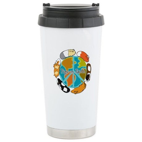 Pigs on Earth Stainless Steel Travel Mug