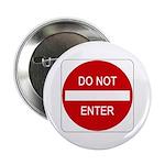 "Do Not Enter Sign - 2.25"" Button (10 pack)"