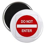 "Do Not Enter Sign - 2.25"" Magnet (100 pack)"