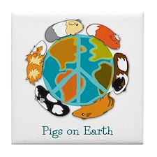 Pigs on Earth Tile Coaster