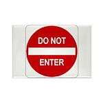 Do Not Enter Sign - Rectangle Magnet (10 pack)