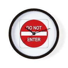 Do Not Enter Sign - Wall Clock