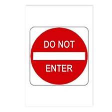 Do Not Enter Sign - Postcards (Package of 8)