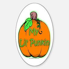 Lil' Punkin Oval Decal