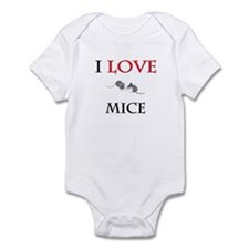 I Love Mice Infant Bodysuit