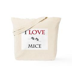 I Love Mice Tote Bag