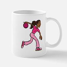 Lady Bowler In Pink Mug