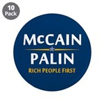"""Rich People First 3.5"""" Button (10 pack)"""