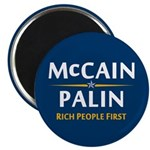 """Rich People First 2.25"""" Magnet (10 pack)"""