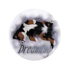 "Dreamin Pup 3.5"" Button"