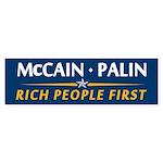 Rich People First Bumper Sticker (10 pk)