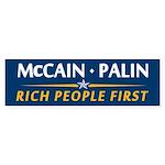 Rich People First Bumper Sticker