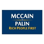 Rich People First Rectangle Sticker