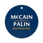 Rich People First Ornament (Round)