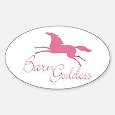 Barn Goddess Mare Oval Decal