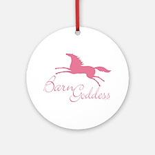 Barn Goddess Mare Ornament (Round)