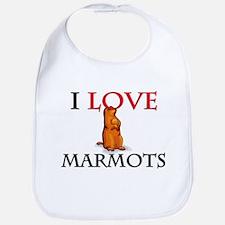 I Love Marmots Bib