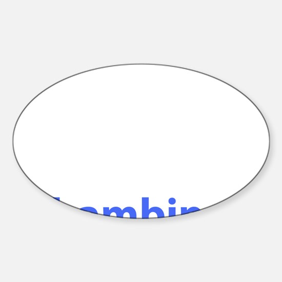 BAMBINO BABY BLUE Oval Decal