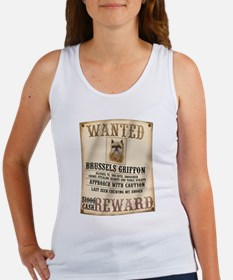 Brussels Griffon Wanted Poster Women's Tank Top