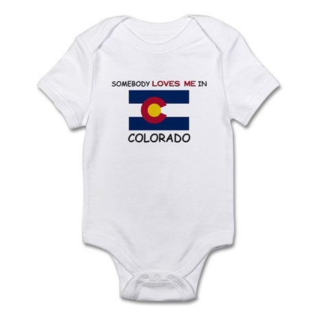 Somebody Loves Me In COLORADO Infant Bodysuit