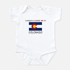 Somebody Loves Me In COLORADO Infant Bodysuit