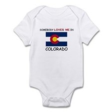 Somebody Loves Me In COLORADO Onesie
