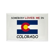 Somebody Loves Me In COLORADO Rectangle Magnet (10