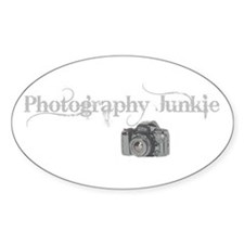 Photography Junkie Oval Decal